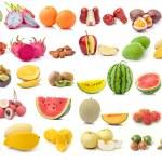 Set of fruit isolated on white background — Stock Photo #70183995