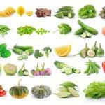 Set of vegetable isolated on white background — Stock Photo #70184719
