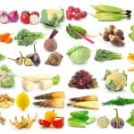 Set of vegetable on white background — Stock Photo #70190445