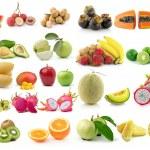 Set of fruit isolated on white background — Stock Photo #70201249