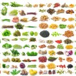 Set of vegetable grains and herbs on white background — Stock Photo #71740801