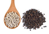 Pepper seeds on white background — Stock Photo
