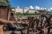 Reggia di Portici, Macchine agricole — Stock Photo