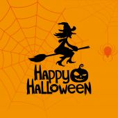 Vector banner. Happy Halloween. — Vector de stock