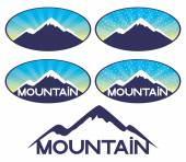 Vector signs. Mountain. — Stock Vector