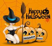 Vrolijke halloween. — Stockvector