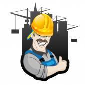 Vector sign. Builder. — Stock Vector