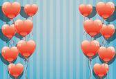 Red balloons. — 图库矢量图片