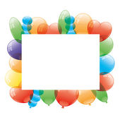 Vector frame. Balloons. — Stock Vector