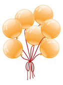 Vector illustration. Balloons. — Stock Vector