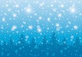 Noite de inverno. — Vetor de Stock