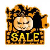 Halloween sale. — Vetor de Stock