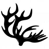 Vector sign. Horns. — Stock Vector