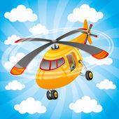 Vector illustration. Helicopter. — Wektor stockowy