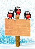 Vector illustration. Bullfinch. — Stock Vector