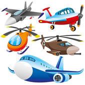 Vector set. Aviation. — Stock Vector