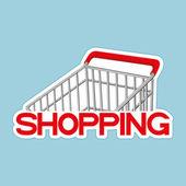 Vector sign. Shopping. — Stock Vector