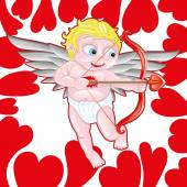 Vector poster. Cupid. — Stock Vector