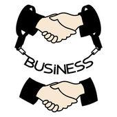Vector signs. Handshake. — Stock Vector