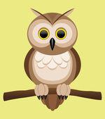 Vector illustration. Owl. — Stock Vector
