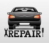 Repair car. — Stock Vector