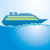 Cruise liner. — Wektor stockowy
