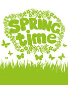 Spring time. — Stock Vector