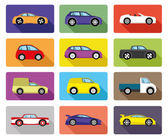 Vector set. Car icons. — Stock Vector