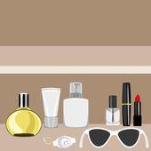 Vector illustration. Cosmetics. — Wektor stockowy