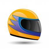 Raicing helmet. — Stock Vector