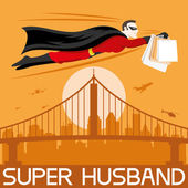 Super husband — Stock Vector