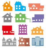 房屋和建筑物. — 图库矢量图片