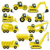 Tractors and trucks. — Stock Vector