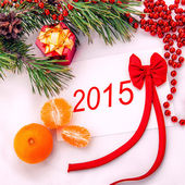 The new year 2014 card — Stock Photo