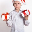 Boy with christmas gift box. — Stok fotoğraf #59112271