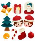 Set of adorable christmas icons — Stockvector