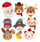 Set of adorable christmas icons — Stock Vector