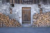 Fire Wood Stacked — Stock Photo