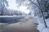 Winter scenery from Finnish nature — Foto Stock