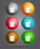 Set of icons battery level — Vecteur