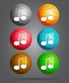 Set of icons music note — Stok Vektör