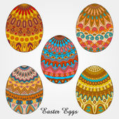 Easter eggs collection — Stock Vector