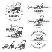 Set of vintage garden service emblems. — Stockvector