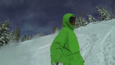 POV Extreme Snowboarding, Winter Sport HD — Stockvideo