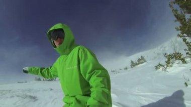 POV Extreme Snowboarding, Winter Sport HD — 图库视频影像