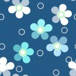Seamless bright kids floral pattern on blue background — Stock Photo #51930069