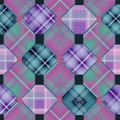 Patchwork seamless checkered pattern background — Stock Photo