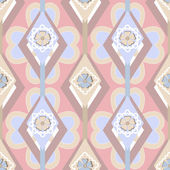 Seamless ornate pattern with geometric elements background — Stock Photo