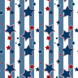 Seamless striped pattern with stars background — Stock Photo #53741925