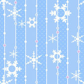 Seamless christmas pattern with snowflakes background — Stock Photo